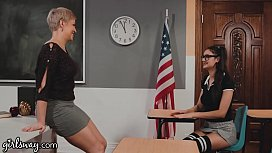 GIRLSWAY Ryan Keely Shows Her Student Eliza Ibarra The Benefits Of Being A Nerd