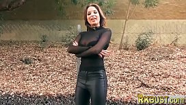 Leather pants French MILF...