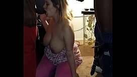Sexy wife sucks 2...