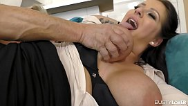 Busty lovers can'_t wait to see Anissa Jolie ride big hard cock with her ass