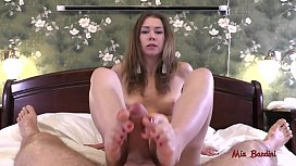 GREAT FOOTJOB WITH RED...