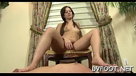 Hot footjob act in breathtaking quality on footdomvideos.com