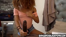 Black teen sucks and gets fucked by step daddy
