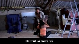 Brunette spanked and fucked...