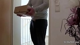 German Teen Seduce Postman...