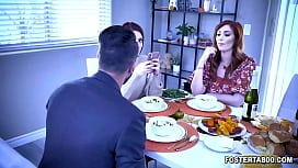 Rude and ungrateful foster daughter Aria Carson tied up and placed on a table like a turkey by her parents Lauren Phillips and Quinton James!