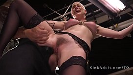 Tied up hairy slave...