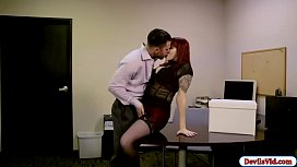 Amber ivy fucks with her hunk officemate
