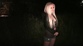 Hot blonde girl decides...