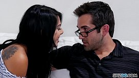 Spizoo - Watch Gina Valentina taking her step f.'_s cock