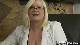 Doctor Lacey Starr treats her patient with toys and tongue