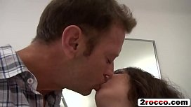 Curly haired brunette slut getting her asshole fucked by a Rocco Siffredi xxx pic