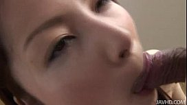 Cock loving Mei shows off her cock sucking skills on a hard dick