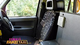 Female Fake Taxi outdoor pussy licking and fingering with tattooed emo chicks