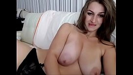 Big natural tits from webcamhooker.us under white lingerie on cam