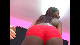 hot black bitch gets fucked and facialed