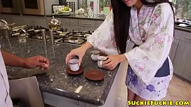 Petite japanese babe drilled...