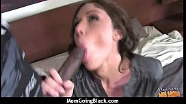 Cougar with Big Tits Seduces Young Black Guy 8