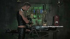 Master dressed in leather...