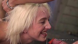 Blonde slave banged and...