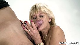 Granny squirts on a...