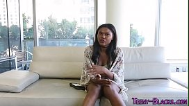 Ebony teenager rammed...