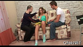 Fascinating beauty getting screwed