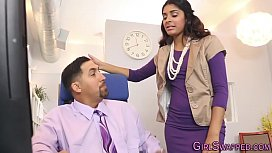 Teens jizzed in office