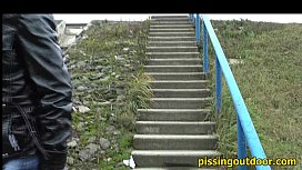 Pissing on a slope xnxx image
