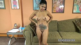 Latina babe Charli goes...