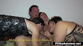 Real amateur orgy with...