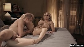 Horny cheating MILF wife hard smashed by an angry boy