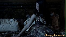 Gorgeous stepmom licks and fingers teen babe