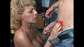 Blonde milf takes a...