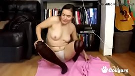 Horny Amateur Allure Rose Strips Out Of Her Skirt And Plays With Her Hairy Pussy