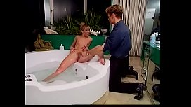 World wide known director Rocco Siffredi  shaves hairy twat of blonde starlet Sandy Balestra manu propria to  talk to the canoe driver
