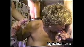 A mature housewife that was partially naked  had f