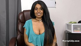 Slutty Tamil secretary shows...
