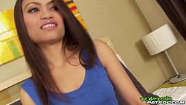 TUKTUKPATROL Hairy Asian Pussy Drilled With Leaking Creampie