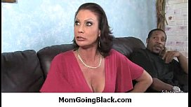 Milf opens her legs for a black cock 30