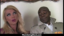 Sexy mom gets a creamy facial after getting pounded by a black dude 29