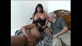 Two chubby transsexuals fucked by amateur