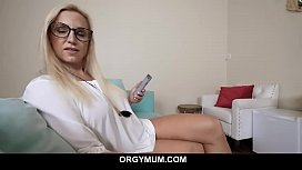 Step mom Sophia West catches her step son with a boner