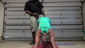 Petite Milf'_s Yoga Interrupted by BBC