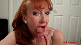 Milf Red sucked and...
