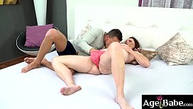 Beautiful granny, Alice rides and bounces on Dom'_s long dong