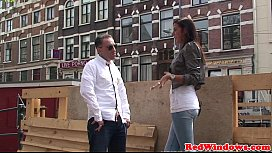 Dutch hooker doggystyled while...