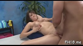 Startling Holly Michaels attacks boner with mouth