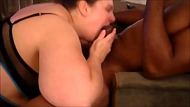 Horny BBW Going Down on her New Black Fuck Friend