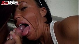 German Mom pounded at...